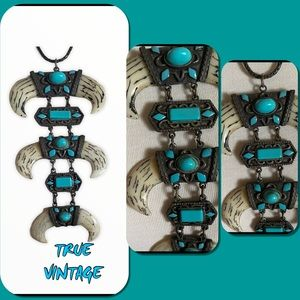 """TURQUOISE HANDCRAFTED PENDANT 5"""" 🎭HP🎭"""